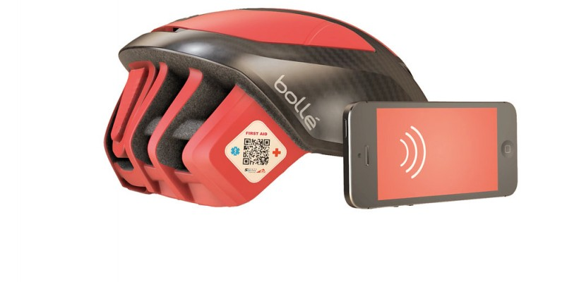 Safety QR Code applicato al casco The One Bollé